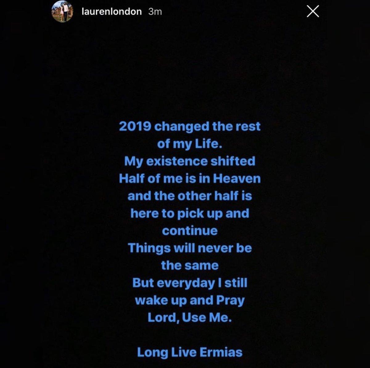 #LaurenLondon speaks about her feelings and the difficulties of #2019  @LaurenLondon @NipseyHussle<br>http://pic.twitter.com/LwxzM8VvYG