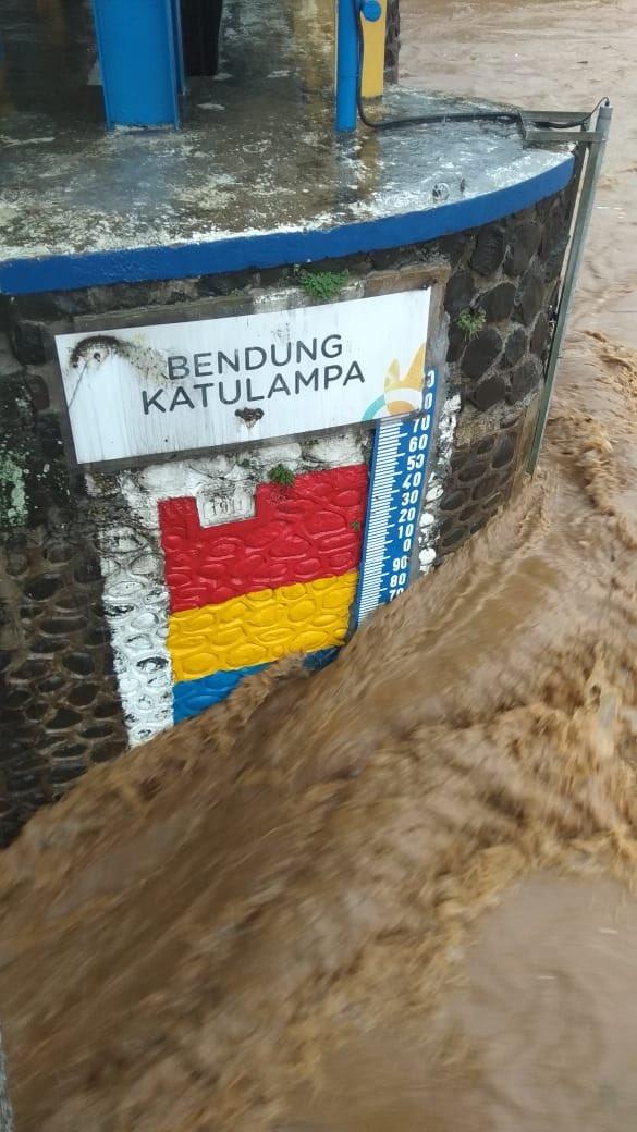 Tinggi Air di Bendungn Katulampa: 170 cm, hujan, Siaga 2, pukul 09.10 WIB, 1 Januari 2020