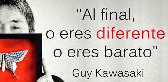 """Economistas Contables on Twitter: """"🗣 Al final, o eres diferente o eres  barato. Guy Kawasaki #quote vía @Dr_Blazquez… """""""