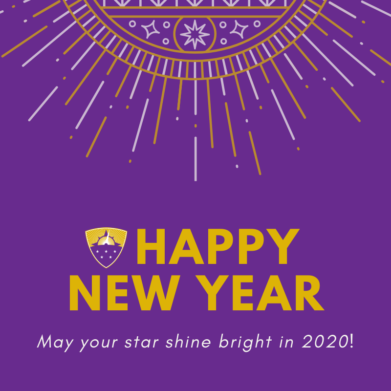 Shine bright, friends. It's going to be an amazing #afftonstrong year! ⭐💜⭐ #HappyNewYear2020