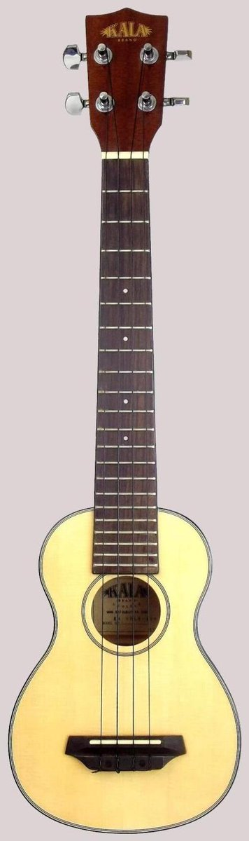Kala Spruce Top Long Neck Acoustic Soprano ukulele Tenor Scale