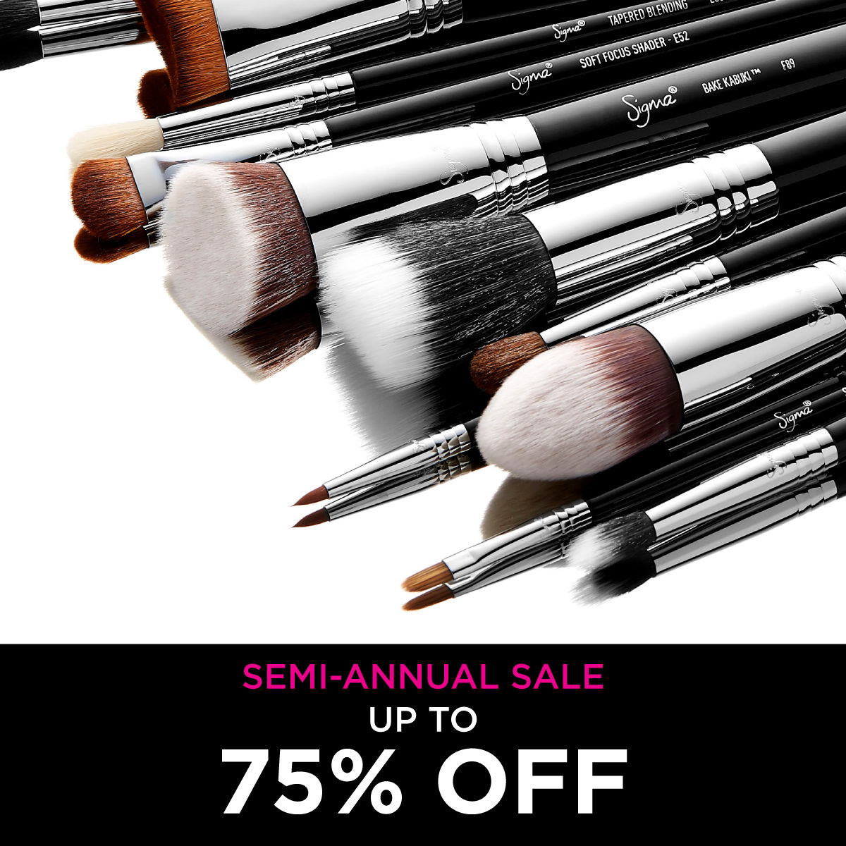 NEW Year, NEW deals: up to 75% OFF! Shop Now > #sigmabrushes #sale