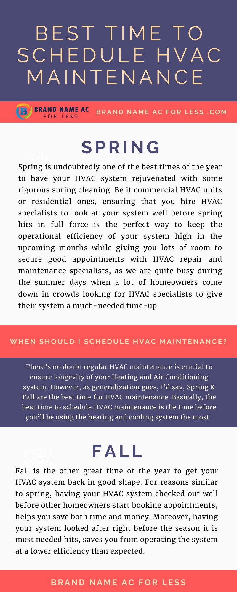 Best Time to Schedule HVAC Maintenance
