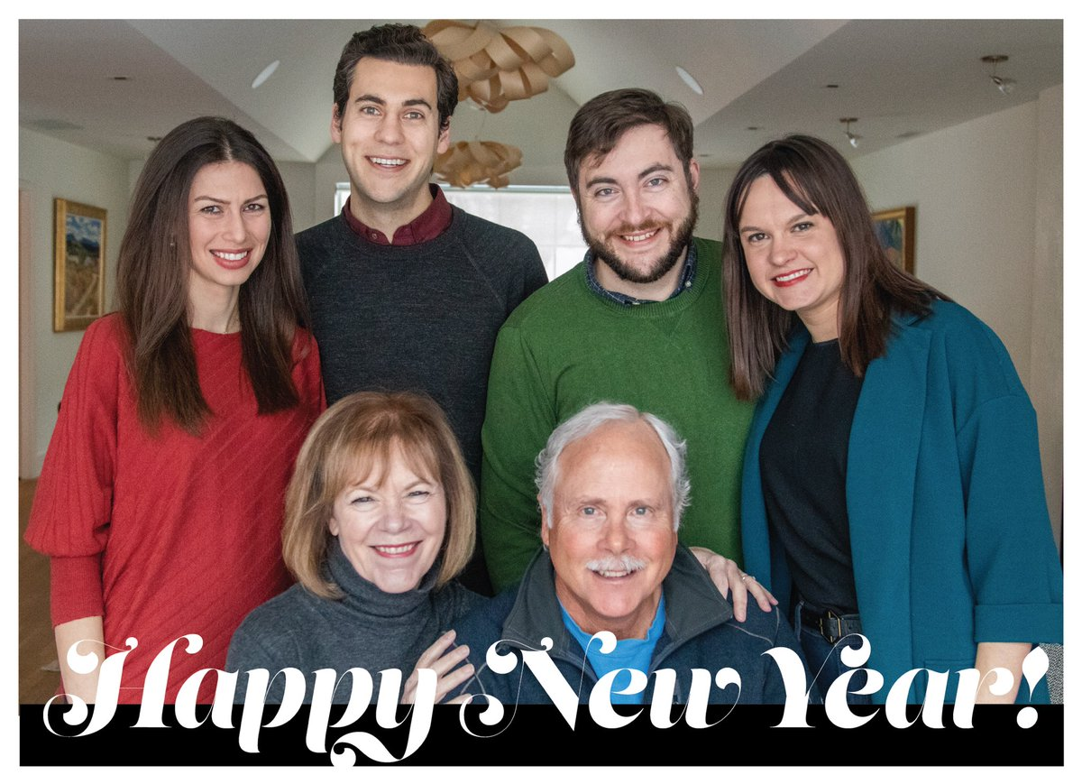 Wishing you a very happy new year from me and Archie, Sam and Emily, and Mason and Julia.