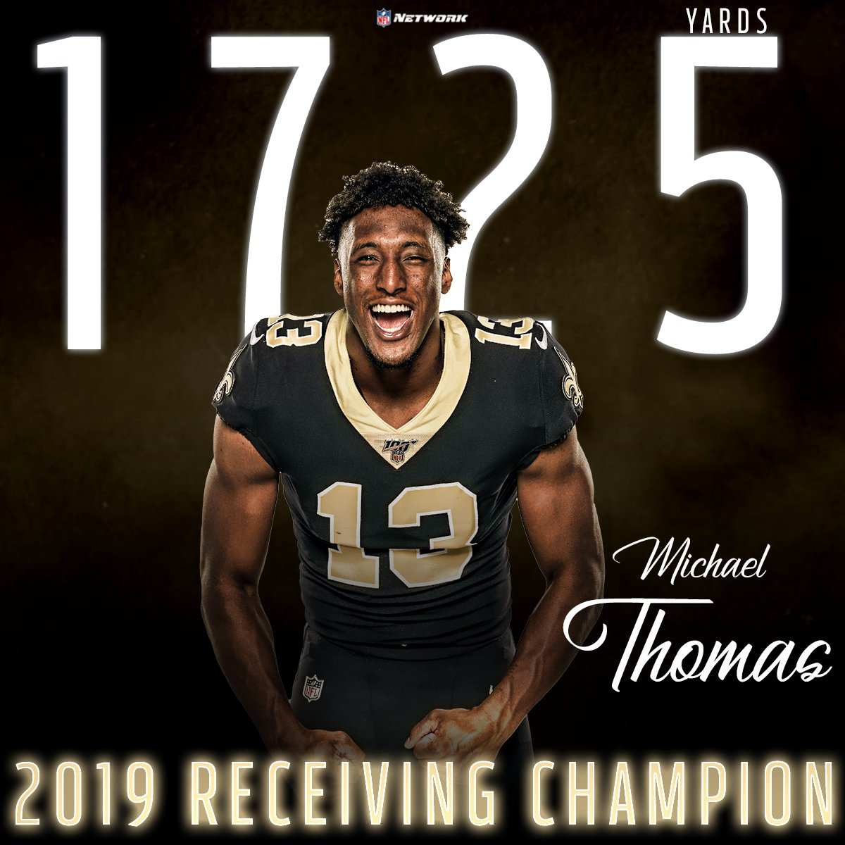 Cant. Be. Guarded. 🥇 @Cantguardmike | @Saints