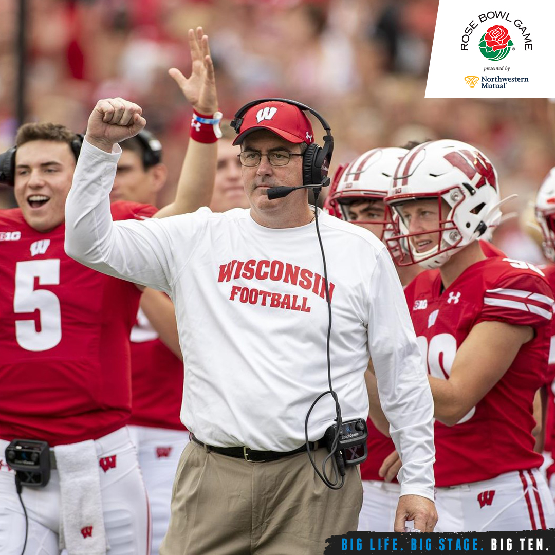 Paul Chryst is the fifth @BadgerFootball head coach to lead his squad to the @rosebowlgame.   #B1GFootball x #RoseBowl https://t.co/qS4zwZNsw6