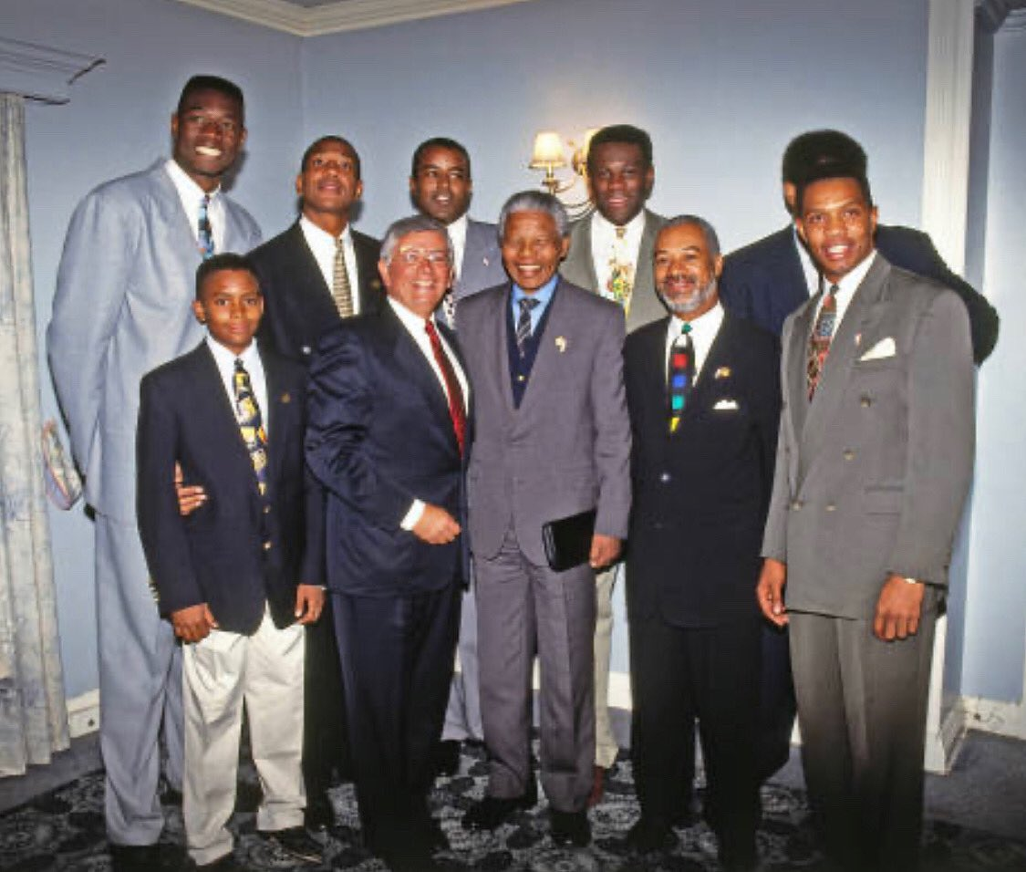 Commissioner Stern led a group of NBA Players to meet Nelson Mandela in South Africa in 1993 and that meeting inspired many of us to take advantage of our platform in the NBA to give back to the continent and inspire others who love basketball worldwide to Dream Big.