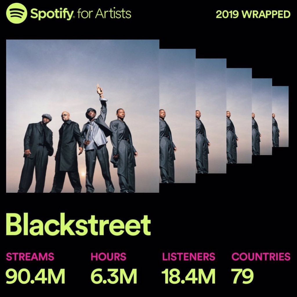 New Year blessings and good wishes to all our amazing fans for listening to our music for all these years. Cheers to 2019  stay tuned and follow @official_blackstreet #music #newmusic #chaunceyblack #markmiddleton #levilittle #ericwilliams #spotifyplaylist #spotifywrapped2019 <br>http://pic.twitter.com/iN3OCXJsTh