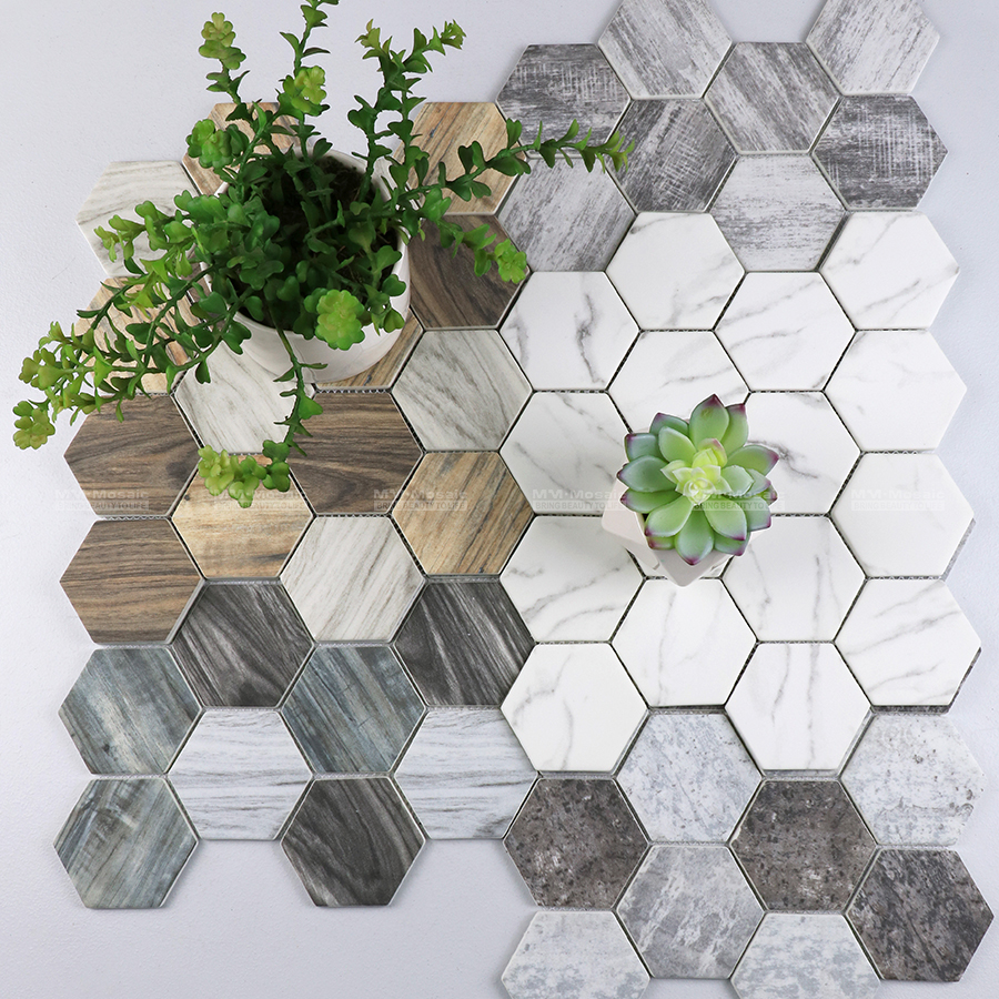 Utilizing eco-friendly #recycledglass and combined with the natural marble pattern designs, which not only looks glamorous but this material help minimizes the pollution on our environment. More details check out here: http://bit.ly/35hRYrO #hexagontiles #mosaic #walltilespic.twitter.com/zdYPdjucc4