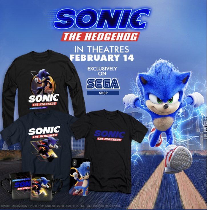Sonic The Hedgeblog On Twitter New Sonicmovie Merch At The Sega Shop Https T Co G4viqmbvlp