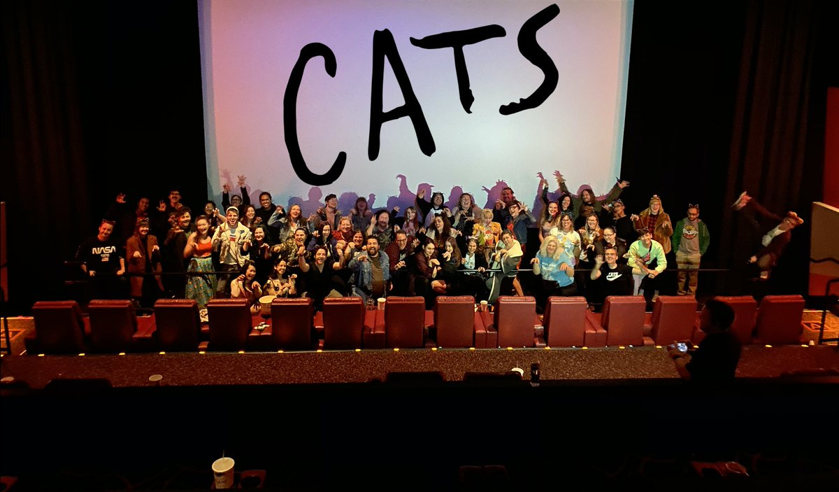 Update 7: We came, we saw, we crammed over 50 people into a theater on New Years Day to have a sold out singalong screening of the Cats movie. Today, we all became jellicle cats. Thanks for coming everybody!