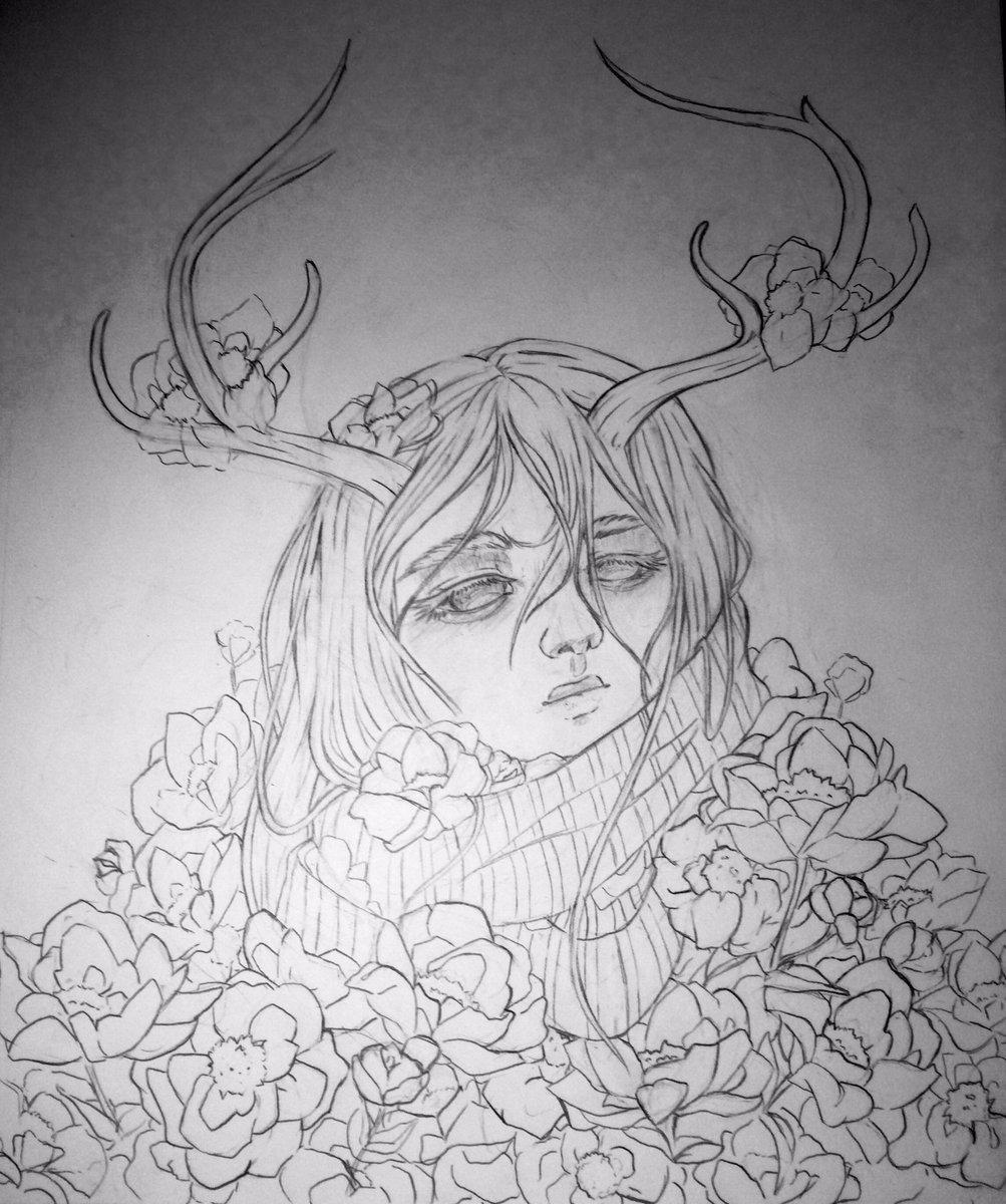 #myart #MyArtwork #drawing #Flowers #wip #anime #AnimeArt #girl https://t.co/mZjr4CcAbW