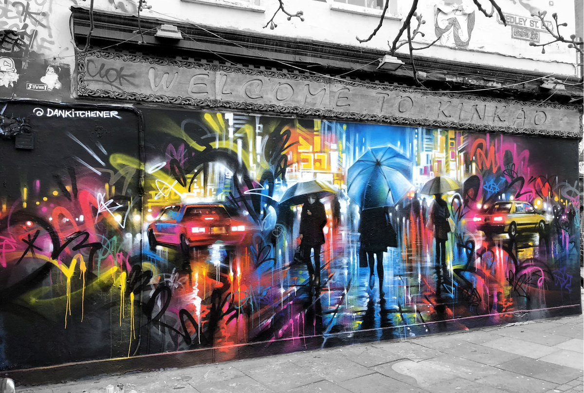 Dan Kitchener On Twitter First Brick Lane London My First Mural Of 2020 Really Wanted To Spend The Day Painting And It S So Quiet In London I Thought It A Great