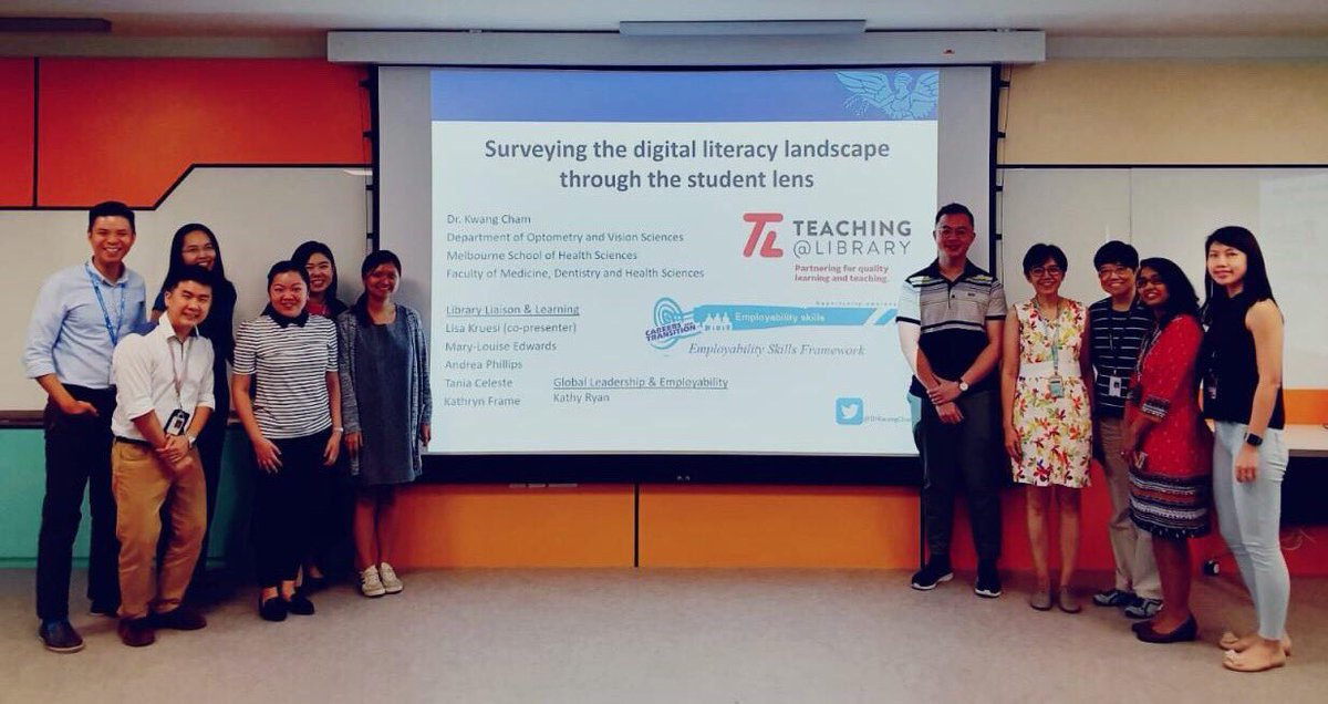 A privilege to be invited to @NgeeAnnNP Center of Teaching and Learning Excellence to share our research on students' digital competencies. Also was glad to visit the Optometry Clinic! @UniMelbDOVS @UniMelbMDHS @unilibrary @OptometryAus @unimelb https://t.co/4BtceLhD5E