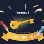 Image for the Tweet beginning: Yummy9 won 202 000 EDG
