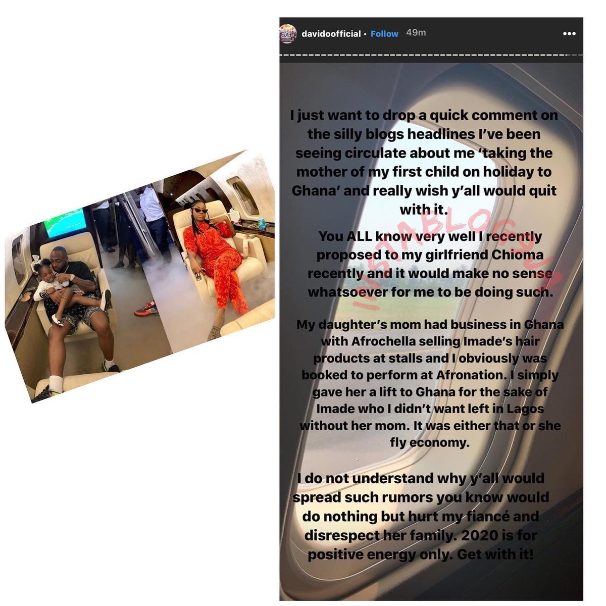 Davido denies taking his first baby mama, Sophia, on a vacation to Ghana   But ummm