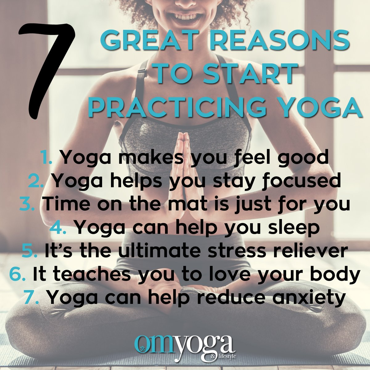 Here are just seven reasons to give yoga a go in 2020. #omyogamagazine #yoga