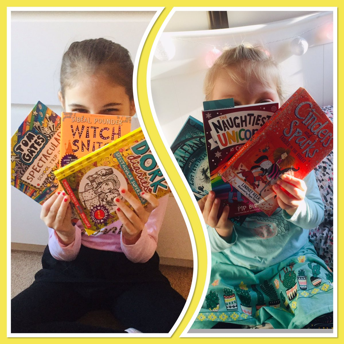 New year, new books to read! Very excited children #amreading #loveofbooks @LindseyKelk @Lillustrator @Sibealpounder @LizPichon @DorkDiaries <br>http://pic.twitter.com/YkKM8uoKIY