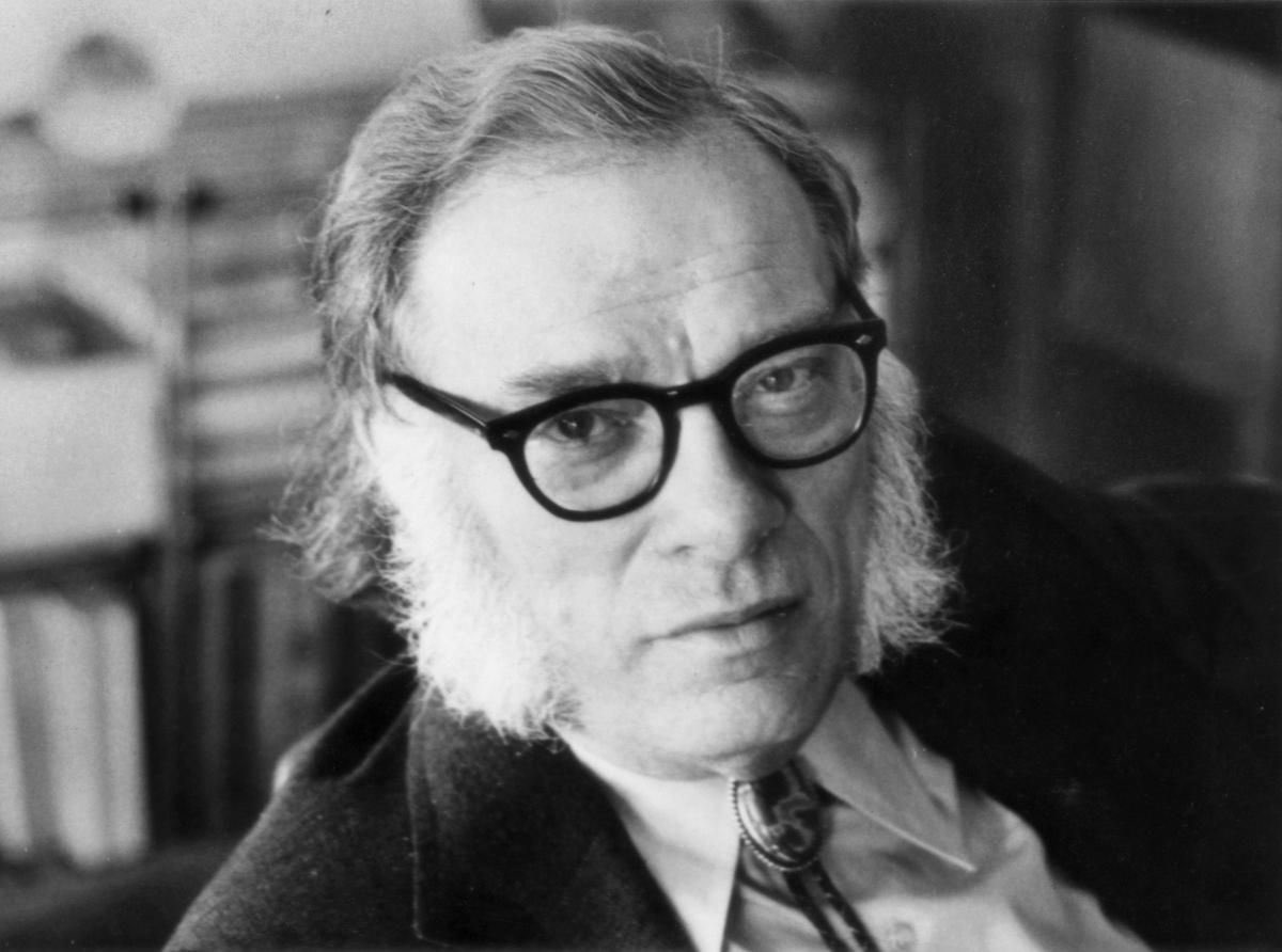 """Isaac Asimov would have been 100 today. He published in every category of the Dewey Decimal system. After reading him your mind work better. Too many great quotes. Here's one:""""Never let your sense of morals get in the way of doing what's right."""""""