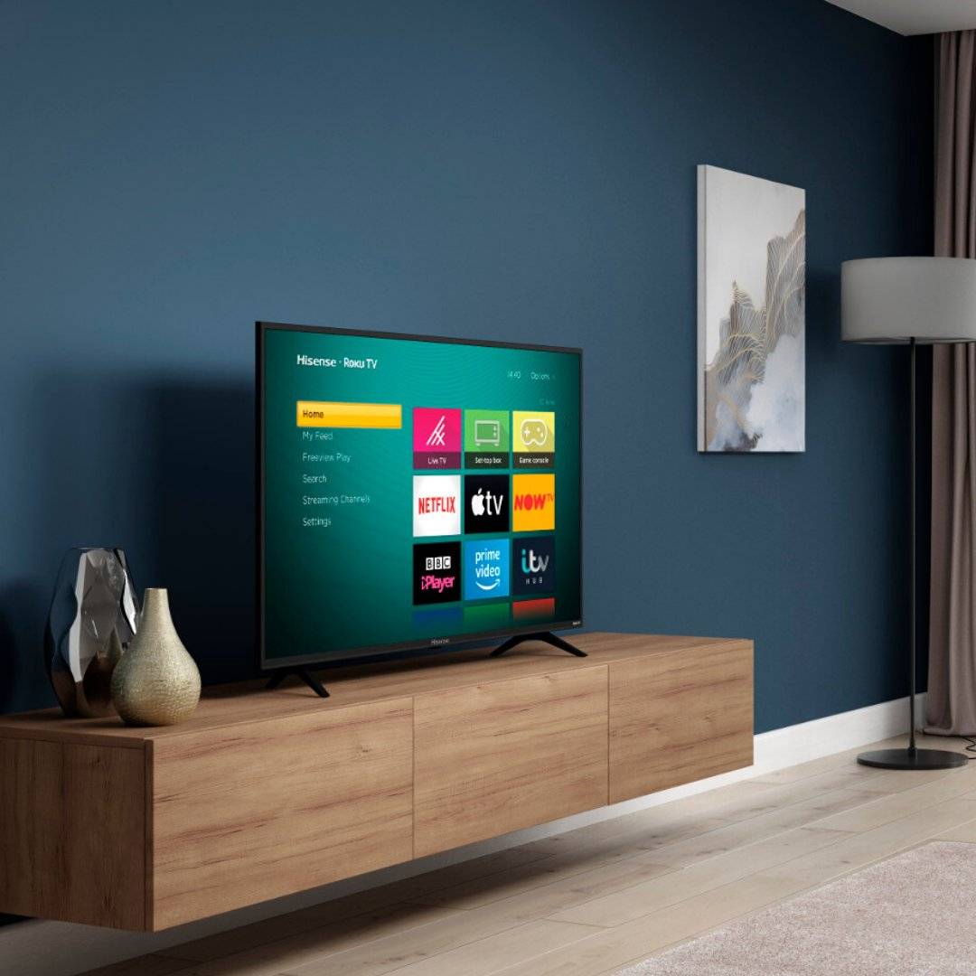 🏆 The first (and only!) @rokuuk TV in the UK 🎬 Stream 150,000+ movies and TV episodes 🤩 Stunningly realistic picture quality  Get The Hisense B7120 Roku TV 👉 http://bit.ly/Hi-B7120