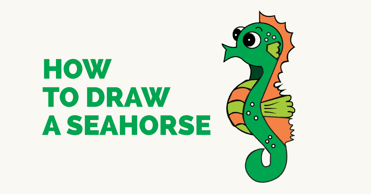 Easy Drawing Guides On Twitter How To Draw A Seahorse Easy To Draw Art Project For Kids See The Full Drawing Tutorial On Https T Co Gztjfqplaa Seahorse Howtodraw Drawingideas Https T Co 6guobnd5vp