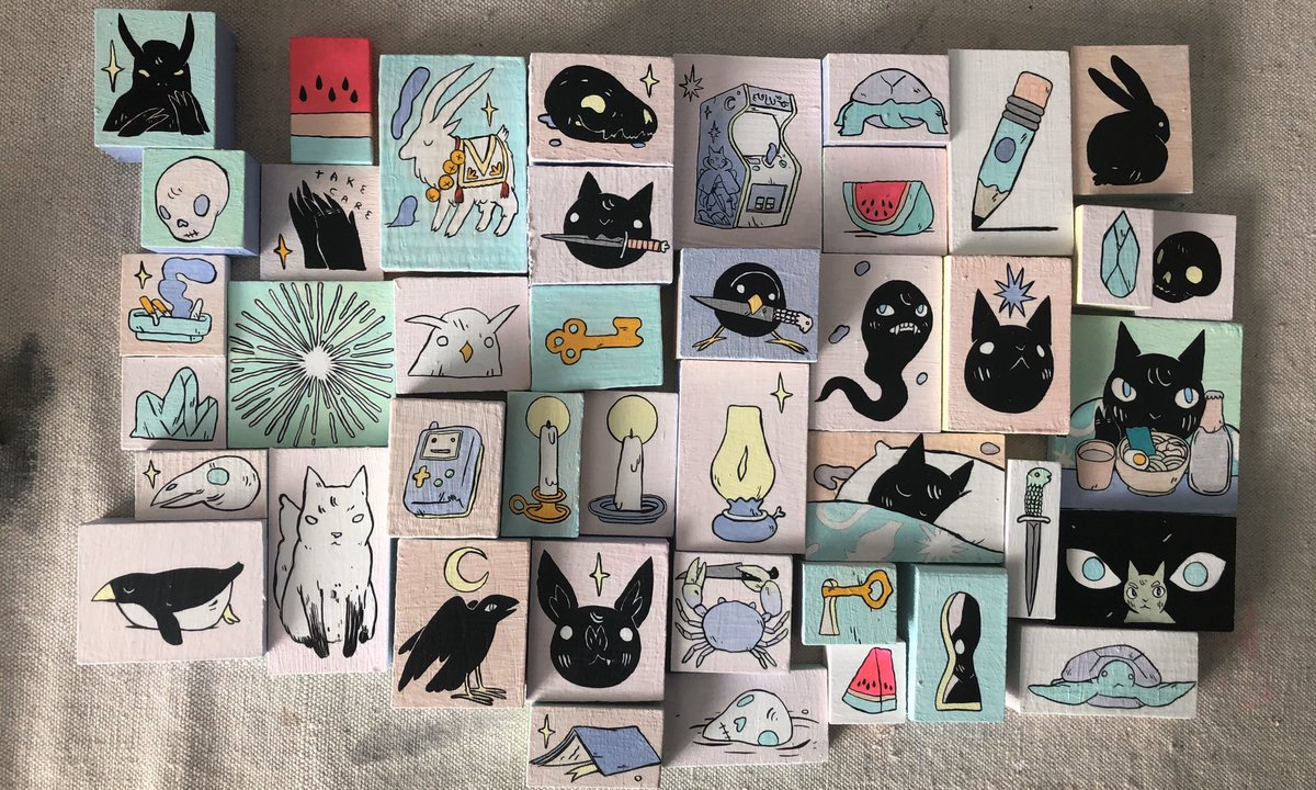 Little paintings I made this weekend