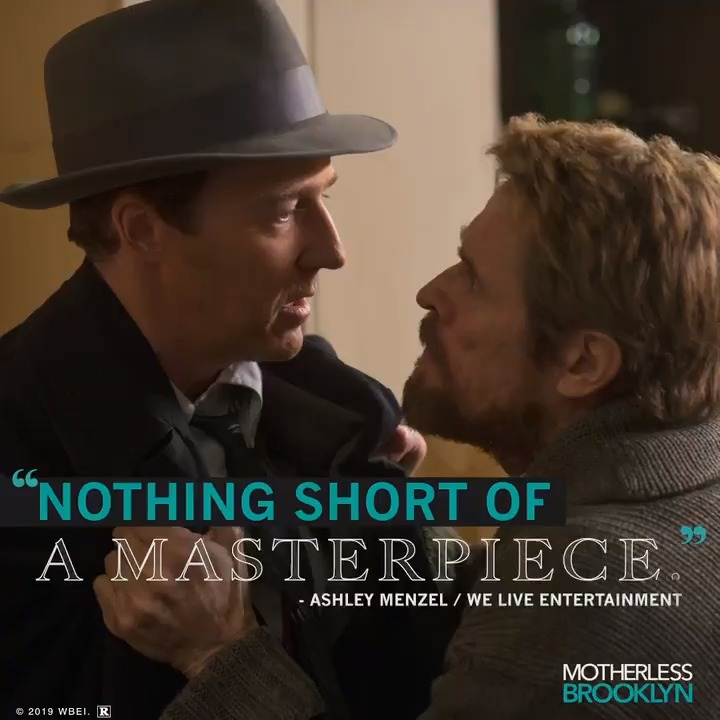 """Catch the movie critics are calling """"nothing short of a masterpiece"""". Own #MotherlessBrooklyn on Digital 1.14 and Blu-ray™ 1.28."""