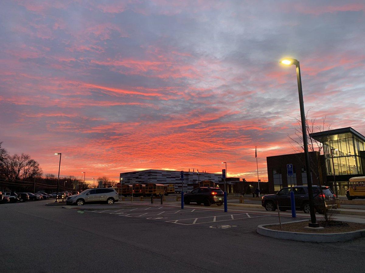 Sunrise over @WJJMs Welcome back!