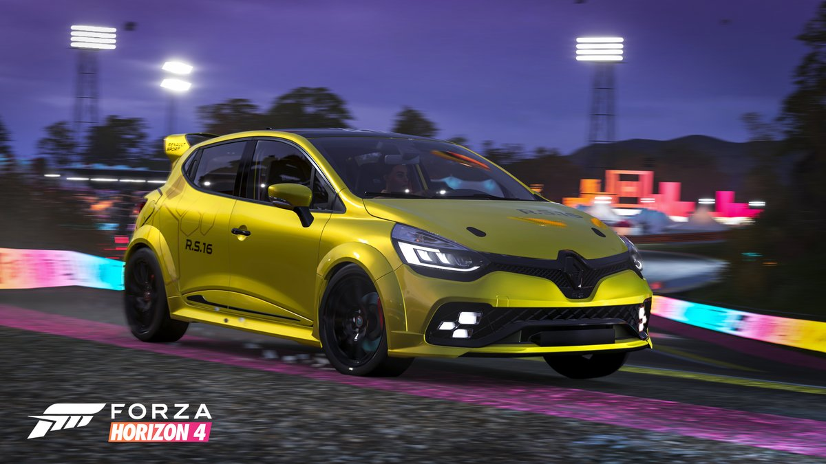 Forza Motorsport On Twitter Who S Ready To Take The 2016 Renault Clio R S 16 Concept For A Night Drive Get Online In Forzahorizon4 And Check Out The Festival Playlist For Details