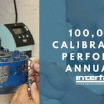 Image for the Tweet beginning: Performing 100,000+ calibrations last year,
