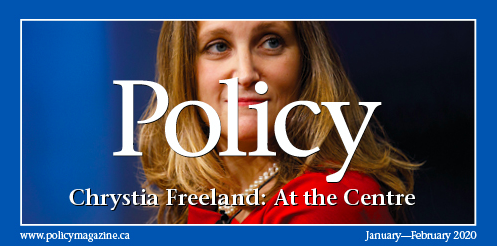 Our first 2020 @policy_mag is up! Jeremy Kinsman and @JohnDelacourt on @cafreeland, @YaroslavB on the Tories, Tom Axworthy and Robin Sears on minority rule, @paraguarosada on 🇨🇦🇺🇸, @ElizabethMay on @COP25CL, and much more, all at policymagazine.ca #cdnpoli
