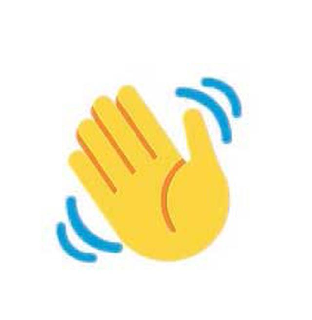 hand waving gif - 700×700