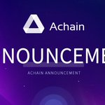 """Image for the Tweet beginning: #Announcement: Notice on """"Achain 2.0"""