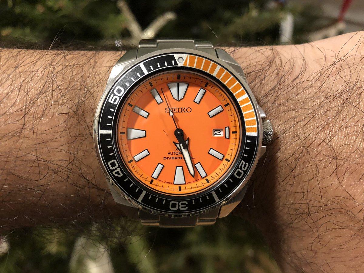 """Japanese Doxa for today... Seiko SRPC07 """"Orange Samurai""""  #seikosamurai #OrangeSamurai #Seiko #SRPC07 #JapaneseDoxa @seikowatches https://t.co/UTJruw4CCs"""