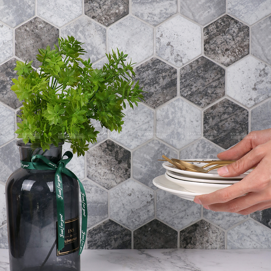 We always want to incorporate a unique design while being environmentally responsible, therefore, this new arrival #recycledglassmosaic tile can provide the best of both worlds! For more details check out here: http://bit.ly/35hRYrO #hexagontiles #mosaic #2020tiles #walltilespic.twitter.com/xD3z4qSdur