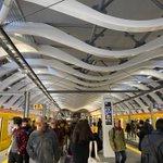 新しい銀座線渋谷駅が、肋骨っぽい!肺の中みたい!