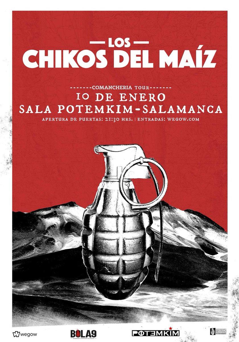 Tras la censura del Ayuntamiento de Salamanca, Los Chikos del Maíz trasladan su concierto a una sala privada: Potemkim