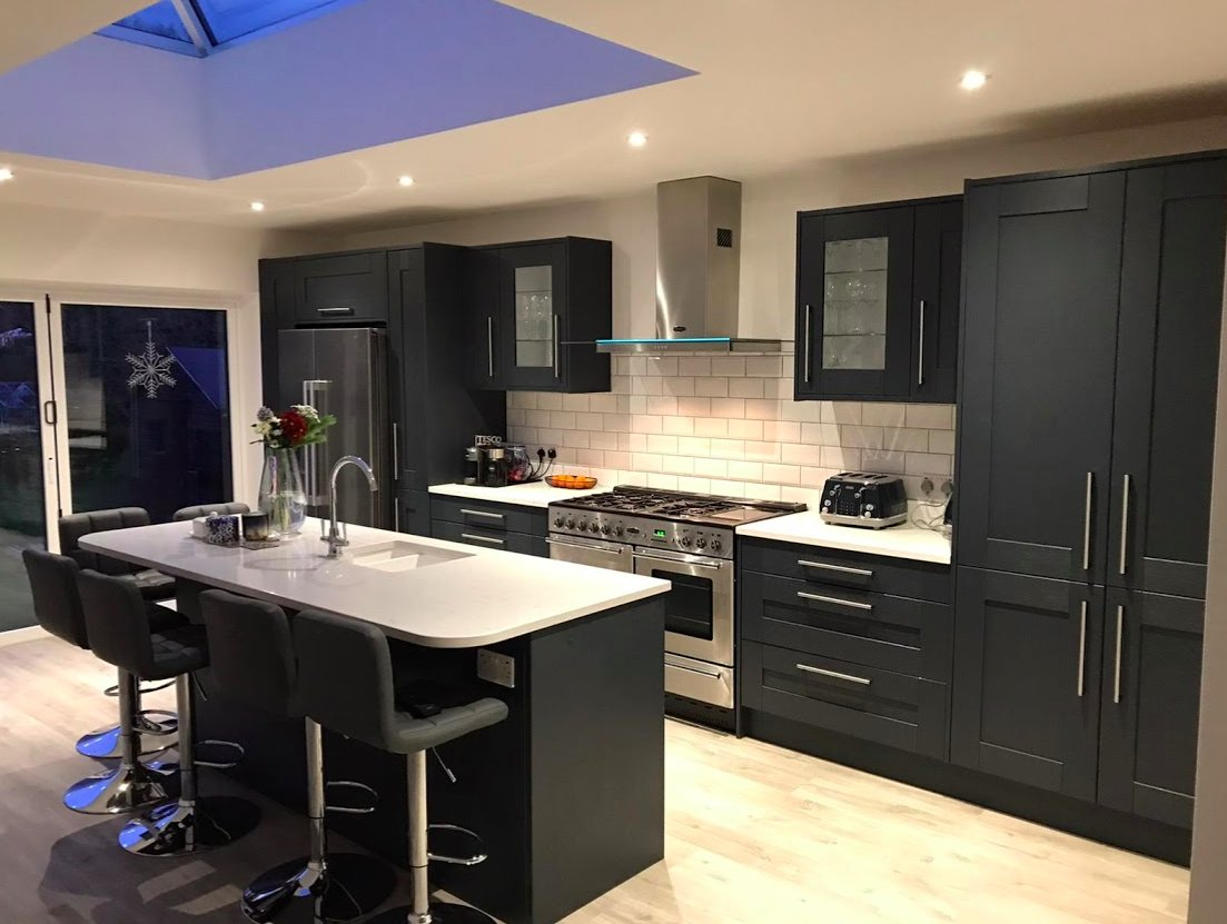Benchmarx Kitchens Joinery On Twitter Bringing In The New Year With This Beautiful Sherwood Midnight Blue Kitchen Straight From Our Petersfield Branch Fitted By Matt Clark From Mjc Carpentry Perfect Space
