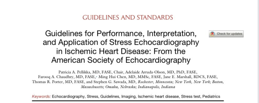 📣📣📣📣 Good News!!!! New Stress Echo Guidelines in IHD @JournalASEcho bit.ly/2ZMvWfK