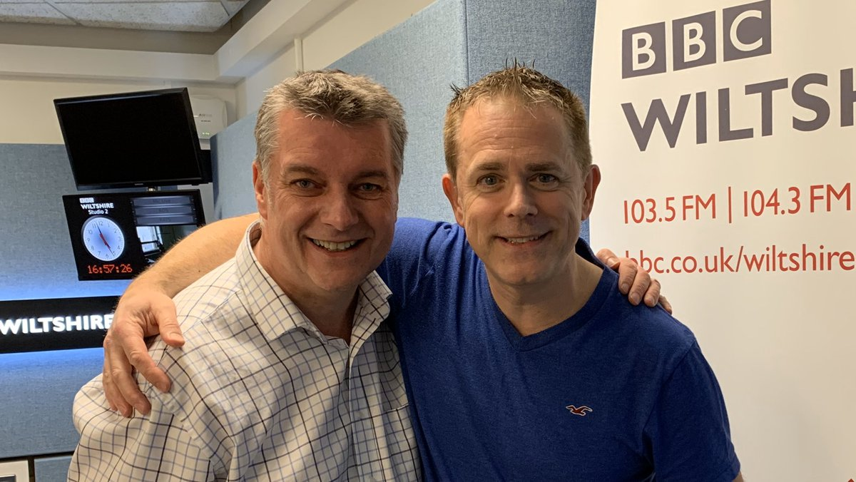 Lovely to have @realchrisjarvis with me @BBCWiltshire talking #SwinPanto @WyvernTheatre