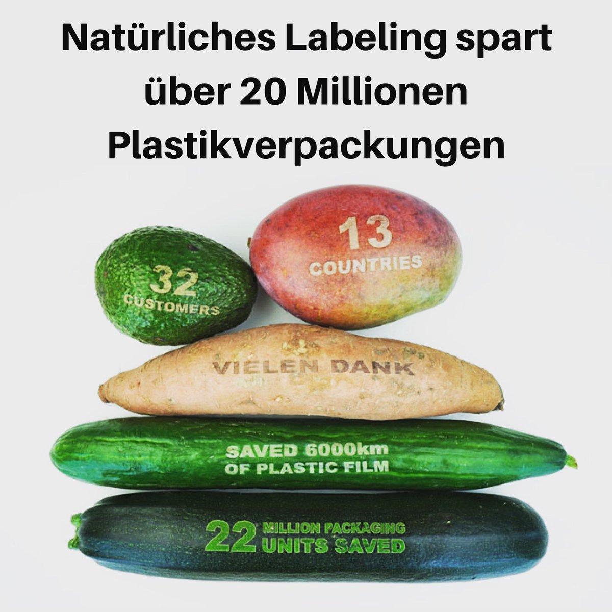 Natürliches Labeling von hilft per Lasergravur mehr als 20 Millionen Plastikverpackungen einzusparen! ————————————————— #eosta #ideen #sagneinzuplastik #plastikfrei #plastikfreiverpackt #einzelhandel #unverpackt #unverpackteinkaufen #plastikfrei #nachhaltig https://t.co/1ewmm8Q3VK
