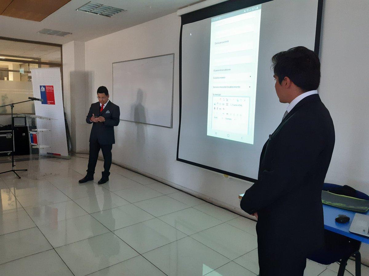Estudiantes de Ingeniería Civil Informática @faceubb @ubbchile presentan App desarrollada para @SSBiobio en asignatura y posterior práctica profesional implementada con #AprendizajeServicio @Deptogestion @BenitoUmana https://t.co/oIJ41gp7Xm