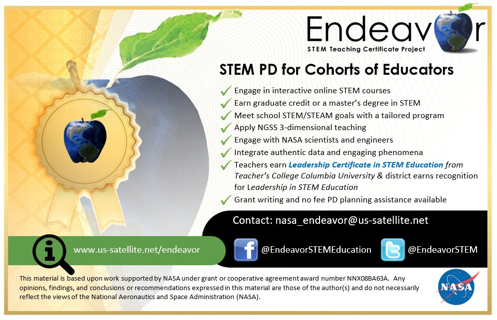 #STEM #PD #STEMeducation #STEMPrograms #NGSS #Science #mathed #edtech @NASASTEM  Educators deserve quality, sustained support with new standards.pic.twitter.com/Yn7sNeAD4V