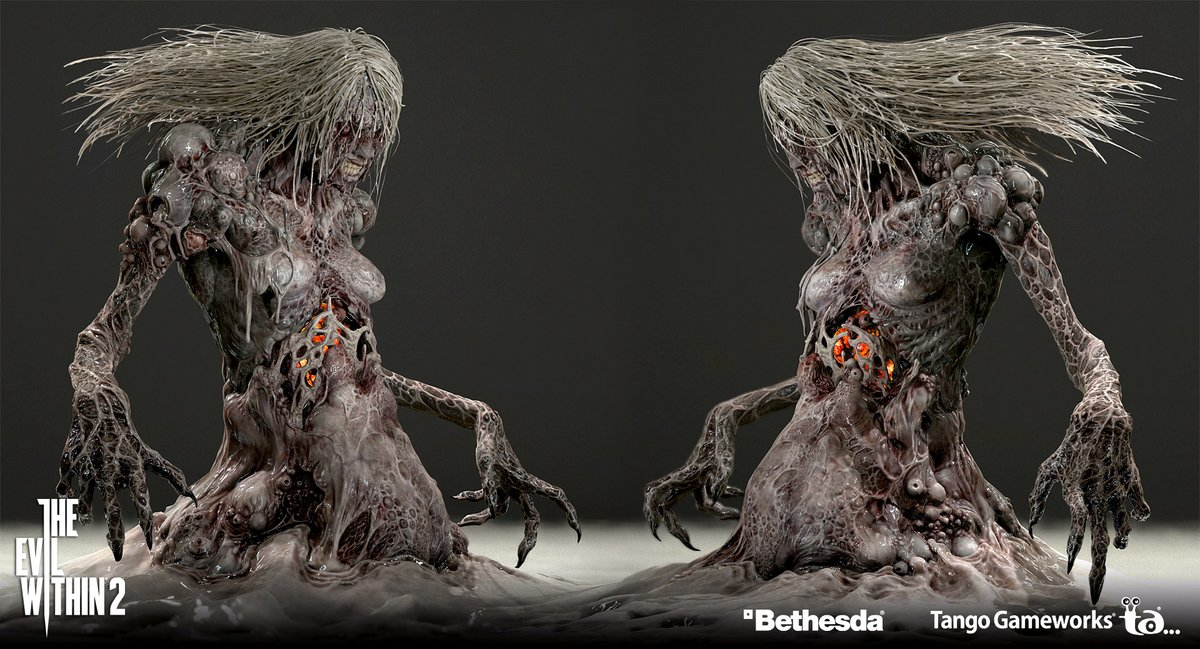 Surrealandcreepy On Twitter 3d Models For The Complex Creatures Of Evil Within 2