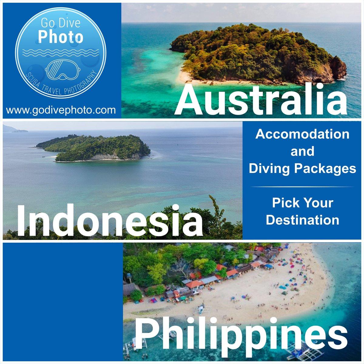 Lets Go Diving.. Pick your destination  For more info see website http://www.godivephoto.com  #scuba #scubadivingtrip #scubatravel #scubalife #scubaadventures #divingtrip #divingaustralia #divingindonesia #divingphilippines #divingtravel #travel #traveladdict #travelphotographypic.twitter.com/21EdCMQNYe