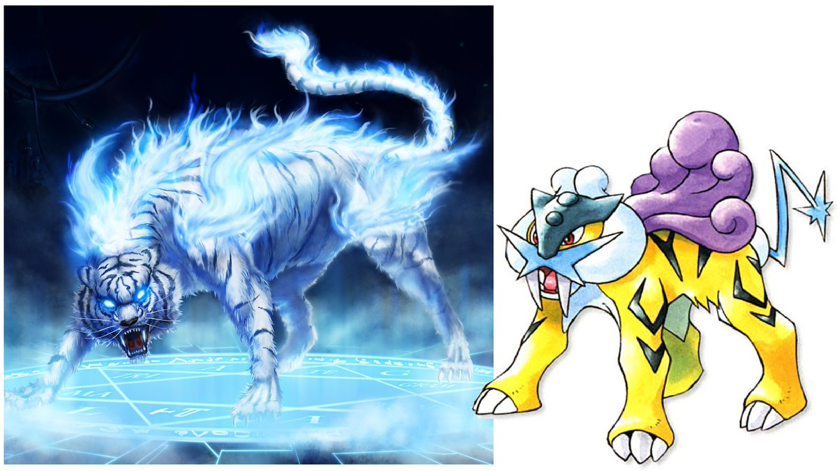 Dr Lava S Lost Pokemon On Twitter Raikou Origins Raikou Draws Inspiration From Japanese Mythology S Thunder Beast Raiju Raiju Can Take Many Forms Including Blue Wolves Tigers According To Legend Raiju Likes [this fearsome critter reminds me a bit of the raiju of japan. thunder beast raiju raiju