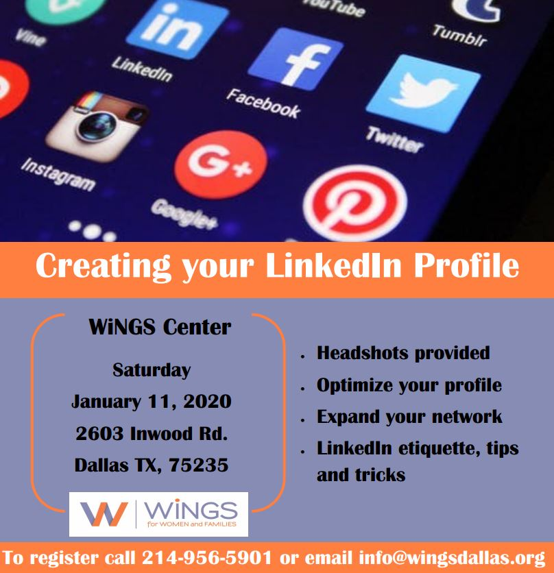 test Twitter Media - Join us on 1/11 for a free Linkedin class! We will be taking your professional headshot and helping you create the best profile you can, attracting employers and companies! Call us at 214-956-5901 / register at https://t.co/VaAFMOs4HS #linkedinlife #successatWiNGS https://t.co/20nQnSwRIV