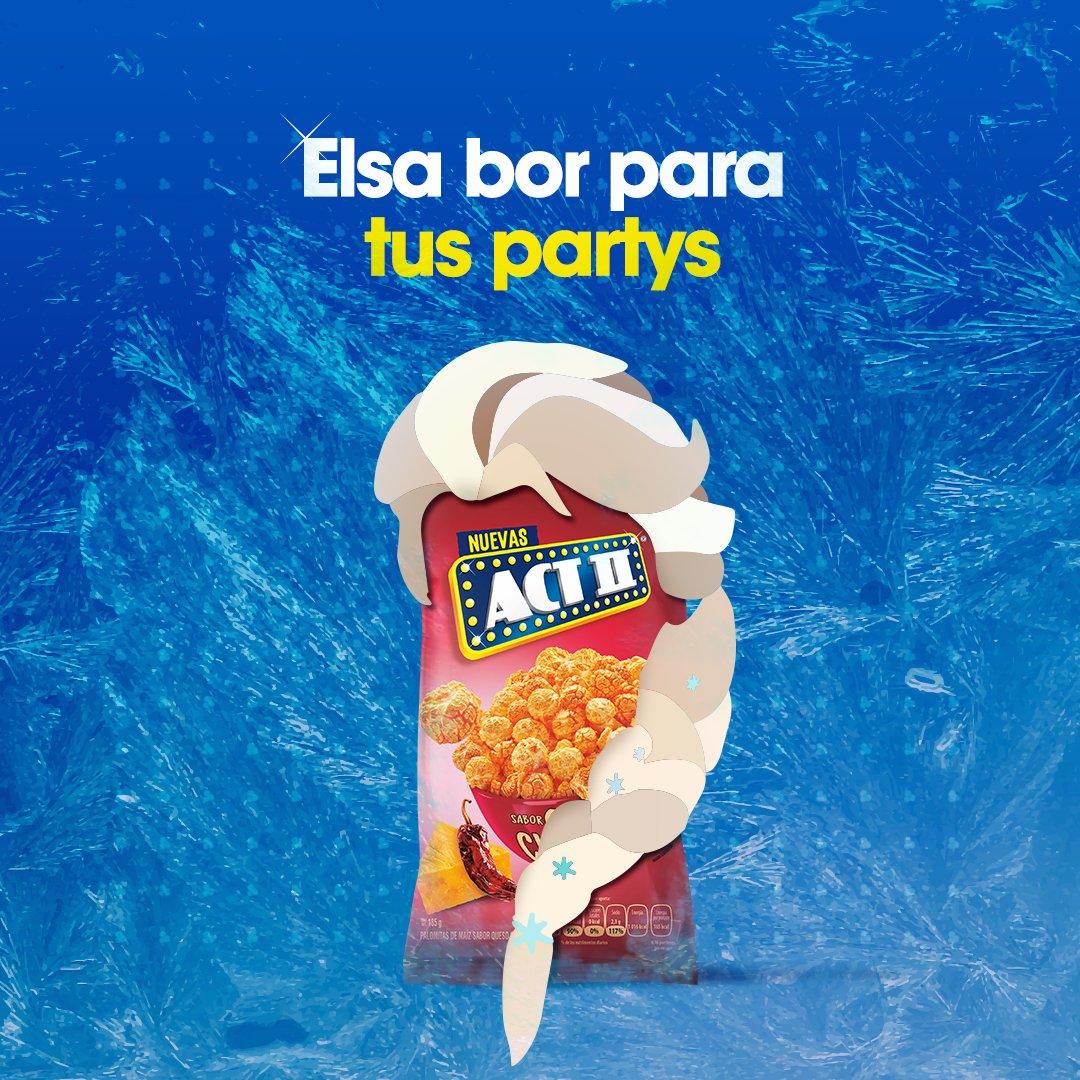 Una buena fiesta lleva una dosis de palomitas con Elsa bor ideal. #ponlepalomitas