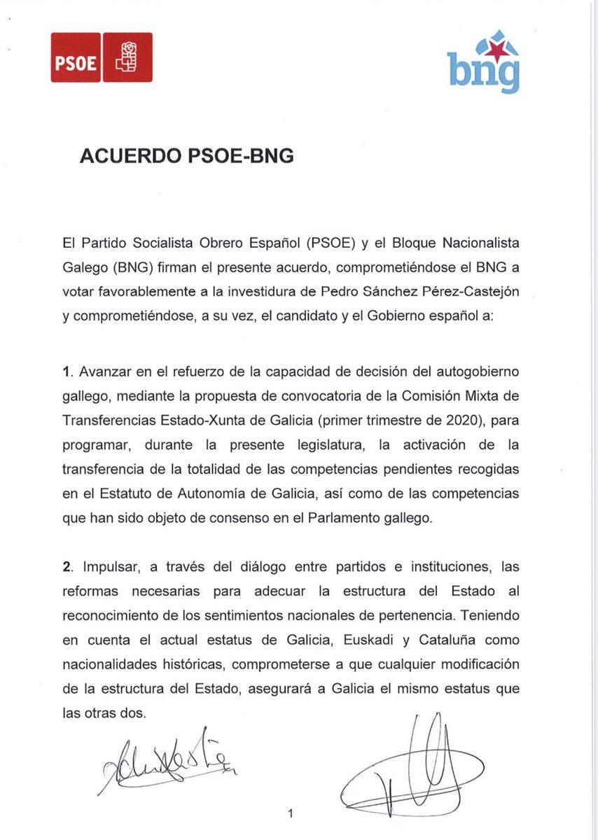 Electomania On Twitter Investidura El Acuerdo Entre El