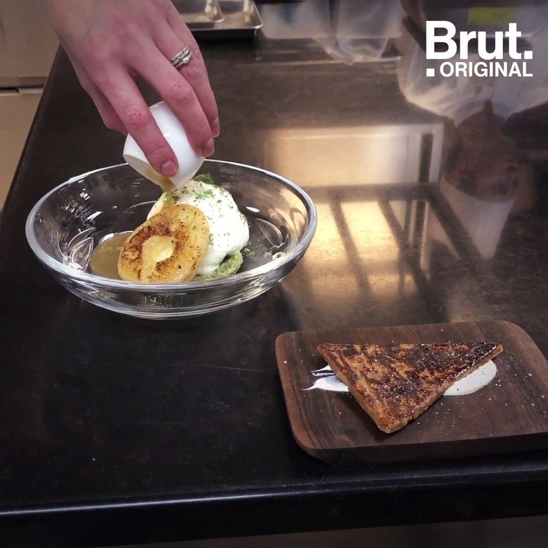 Elle a été sacrée meilleure pâtissière du monde. Pour Brut, Jessica Préalpato réalise un dessert à base de poire et dabsinthe, avec un minimum de sucre ajouté.